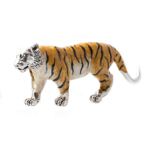 Sterling Silver and Enamel Tiger