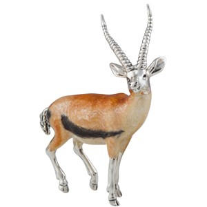 Sterling Silver and Enamel Gazelle
