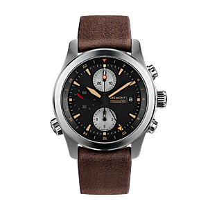 Bremont 43mm circular hardened stainless steel watch