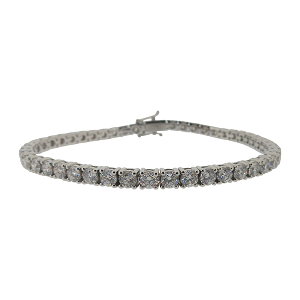 Platinum Diamond Line Bracelet