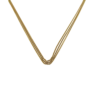 18ct Rose Gold Triple Chain Necklace