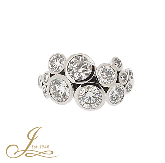 18ct White Gold 2.24ct Diamond Ring