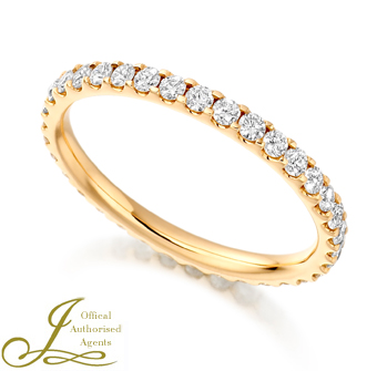 18ct Rose Gold Diamond Full Eternity Ring