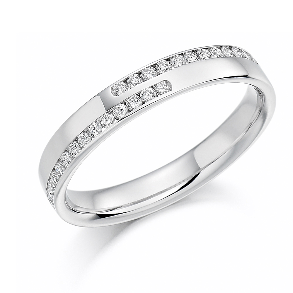 Platinum Diamond Set Band