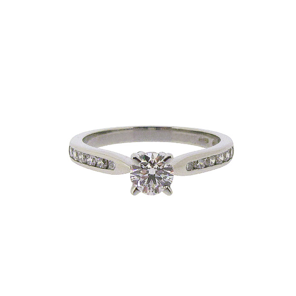 Platinum 0.62ct Solitaire Diamond Ring