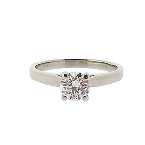 Platinum 0.60ct Solitaire Diamond Ring