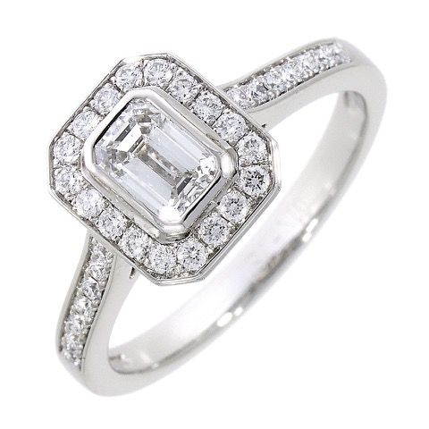 A platinum diamond set ring
