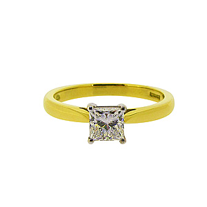 18ct Yellow Gold 0.61ct Solitaire Diamond Ring