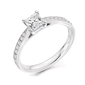 Platinum 0.43ct Diamond Solitaire Ring