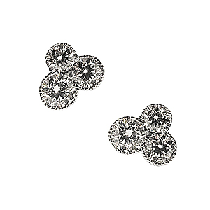 18ct White Gold 1ct Diamond Earrings