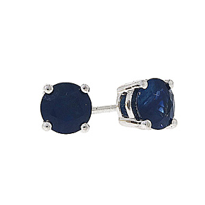 18ct White Gold 1.22ct Sapphire Stud Earrings