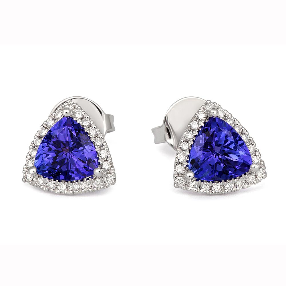 Tivon Tanzanite And Diamond Earrings