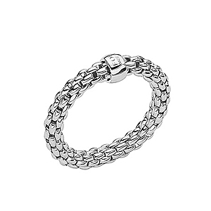 FOPE 18ct White Gold Essentials Ring