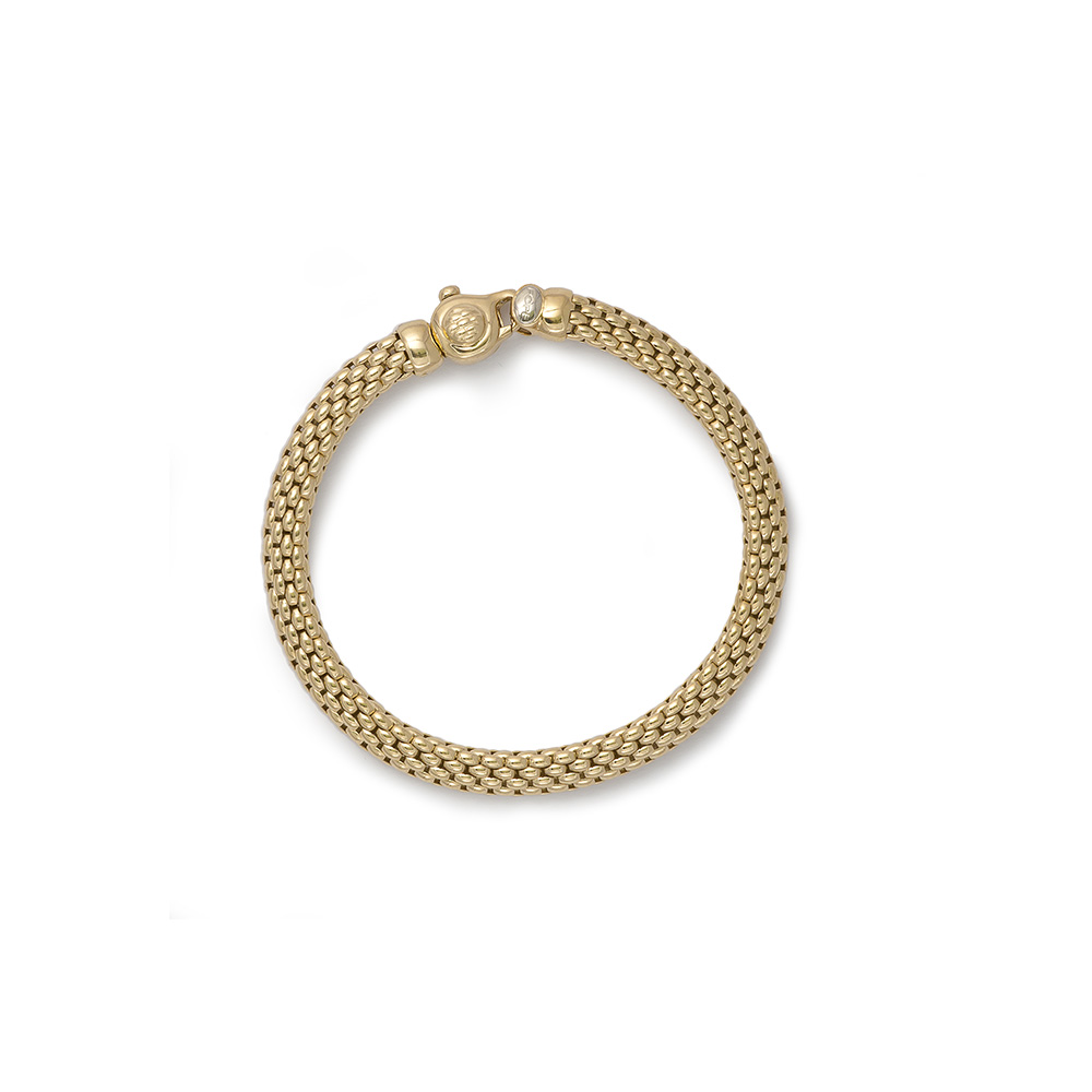 FOPE 18ct Yellow Gold Panther Link Meridiani Bracelet