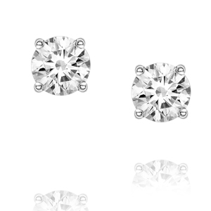 18ct white gold diamond studs 0.70ct