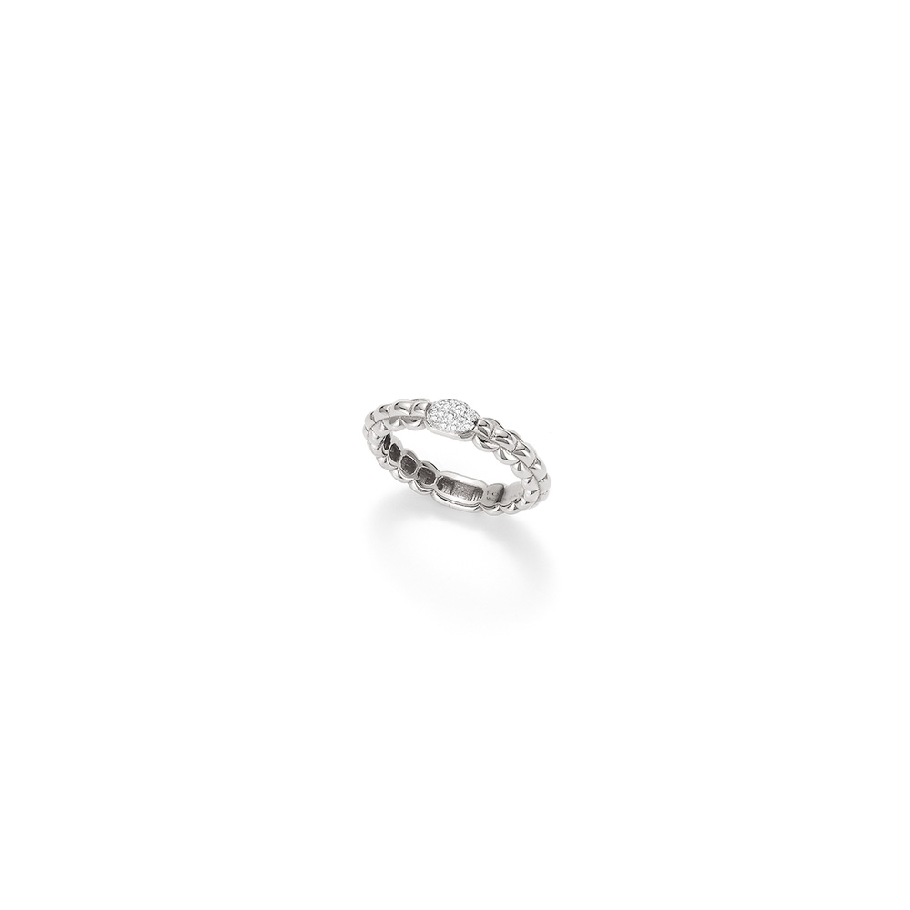Fope EKA TINY 18ct white gold ring size N