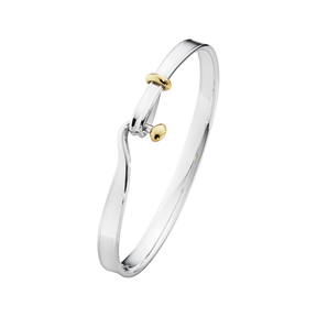 Georg Jensen Sterling Silver and yellow gold Torun bangle