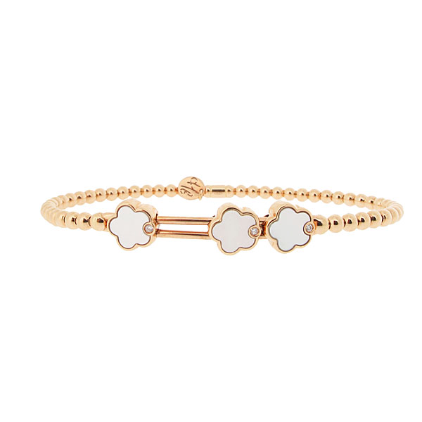 Hulchi Belluni Mother of Pearl 'Toi & Moi' Bangle