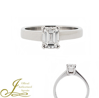 Jacobs Presents A Pre Owned Platinum 109ct Diamond Solitaire Ring