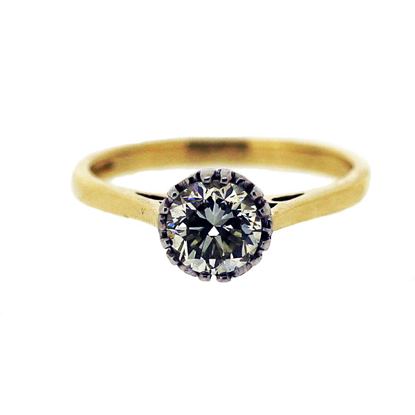 Second Hand 18ct Yellow Gold 0.95ct Approx. Diamond Ring