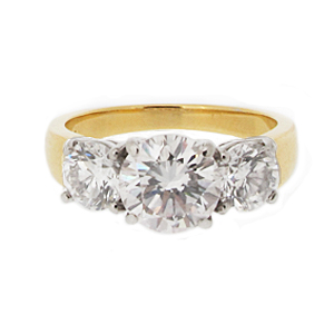 Second Hand 18ct Yellow Gold 3.13ct Diamond Ring