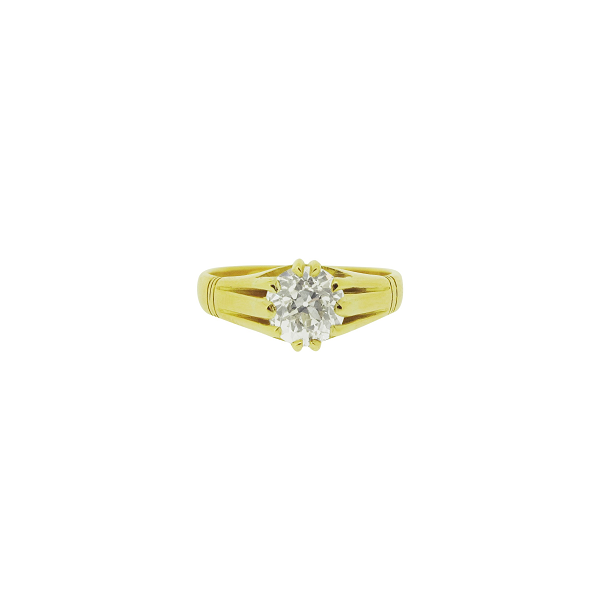 Second Hand 18ct Yellow Gold 1.43ct Diamond Solitaire Ring