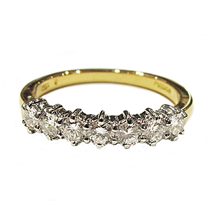 Second Hand 18ct Gold + Diamond Half Eternity Ring