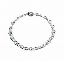 Links of London Sterling Silver Signature charm chain bracelet