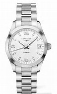 Longines ladys stainless steel Conquest watch