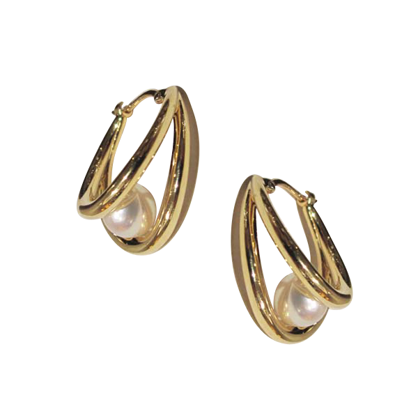 Mikimoto 18ct Yellow Gold 5.5mm Pearl Earrings