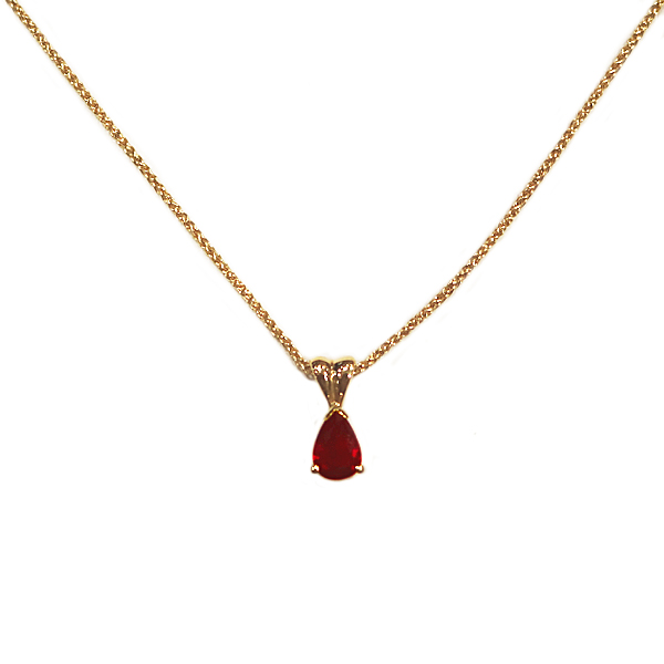 18ct Yellow Gold 0.76ct Ruby Pendant