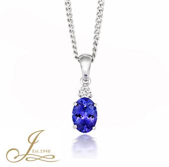 Tanzanite and diamond pendant tivon tanzanite and diamond pendant mozeypictures Images