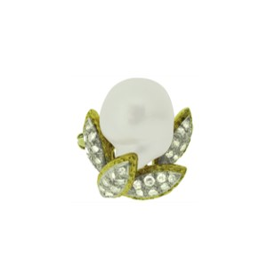 Second Hand Diamond & Pearl Dress Ring
