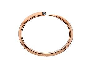 9909ee77b Shaun Leane Rose Gold Vermeil Diamond Tusk Bangle
