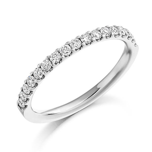 Platinum 0.33ct Diamond Half Eternity Ring