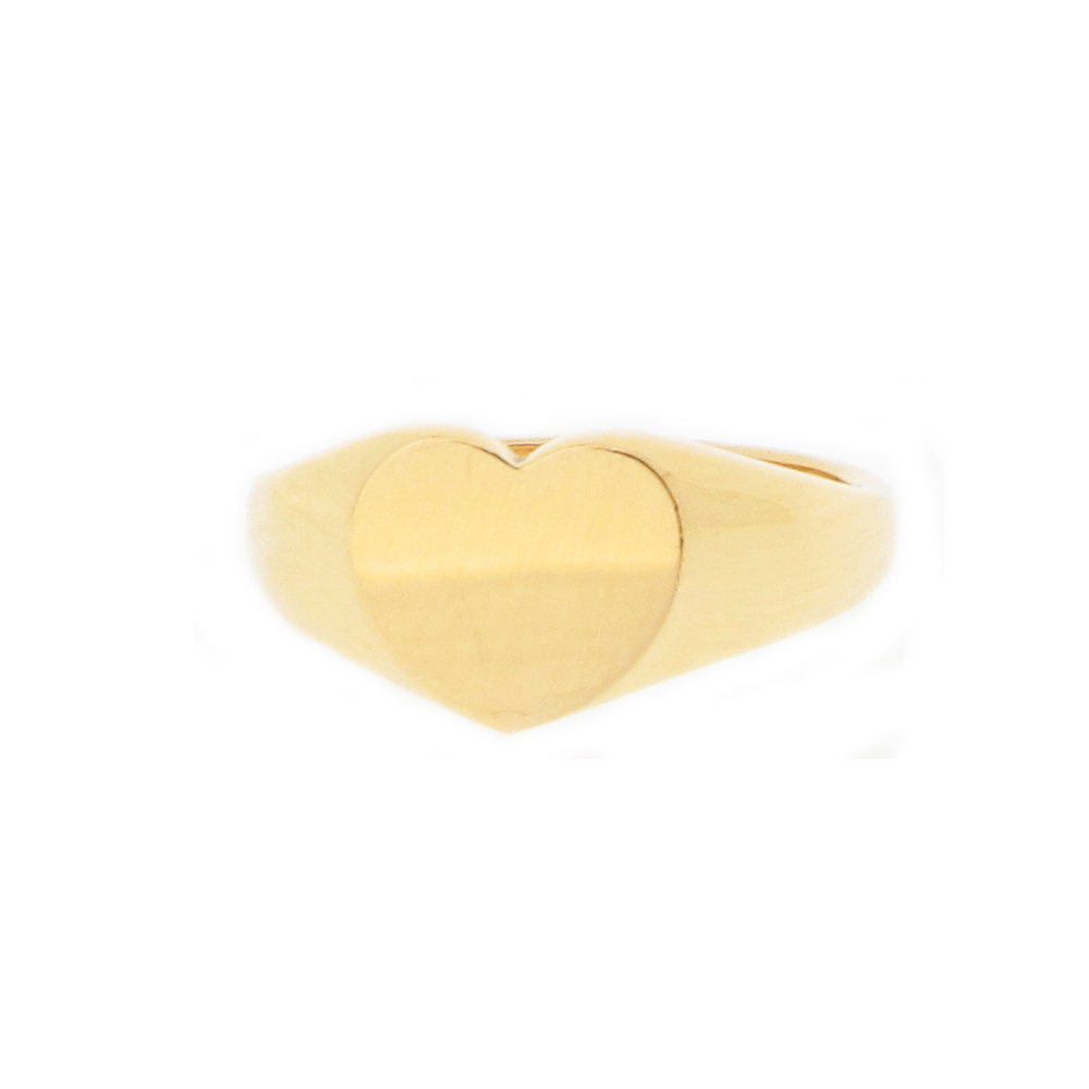 Heart Shaped Signet Ring