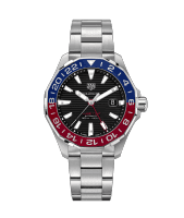 Tag Heuer 43mm stainless steel Aquaracer watch.
