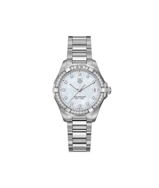 Tag Heuer 43mm Aquaracer watch.