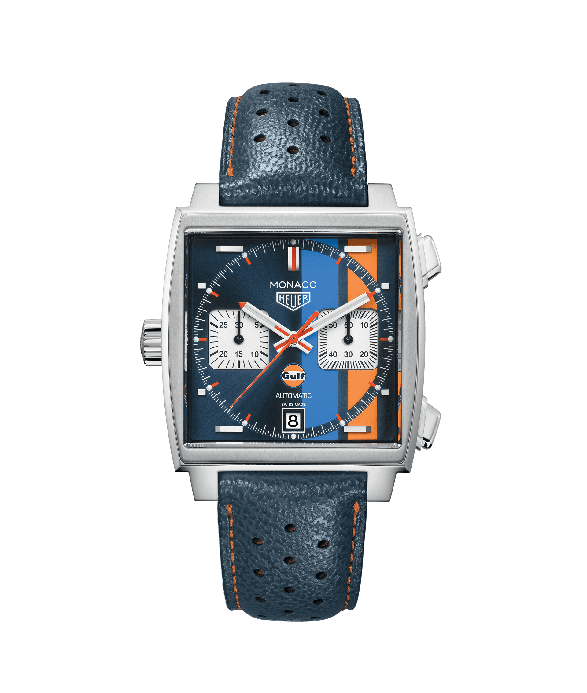 A 39mm stainless steel Tag Heuer Monaco calibre 11 'GULF' automatic watch