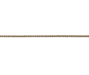 18ct red gold spiga link necklace
