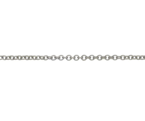 "18ct 18"" white gold light Trace link necklace"