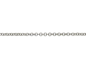 "18ct 16"" white gold medium Trace link necklace"