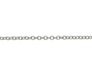 "18ct 18"" white gold medium trace link necklace"