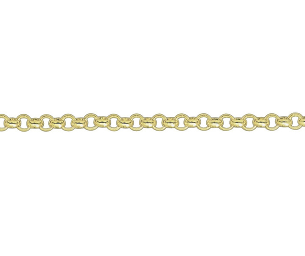 "18ct 20"" yellow gold heavy Belcher link necklace"
