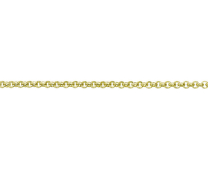 "18ct 16"" yellow gold light Belcher link necklace"