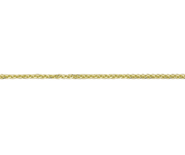 "18ct 18"" yellow gold filed Spiga link necklace"