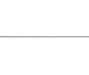 9ct White gold light spiga link necklace