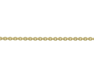 "9ct yellow gold 16"" trace link necklace"