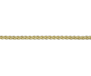 "9ct yellow gold 18"" spiga link necklace"