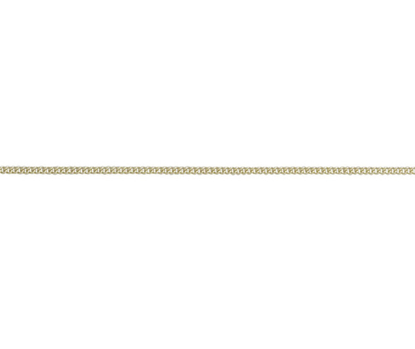 "9ct yellow gold fine curb 24"" chain"